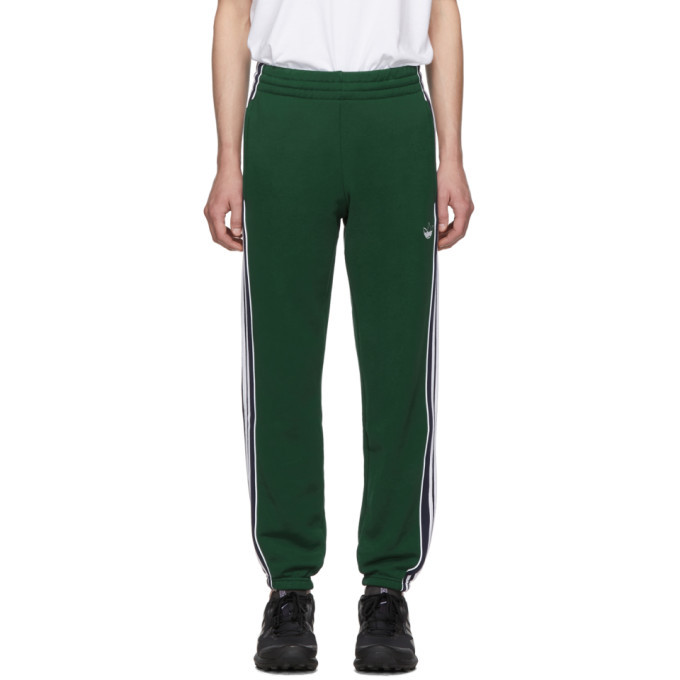 adidas pants green stripe