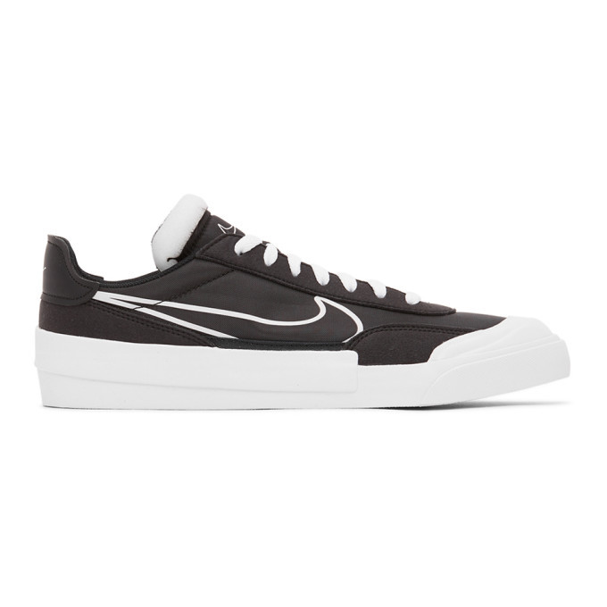 Photo: Nike Black and White Drop-Type Sneakers