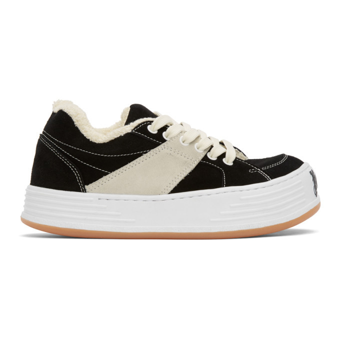 Photo: Palm Angels Black Snow Low-Top Sneakers