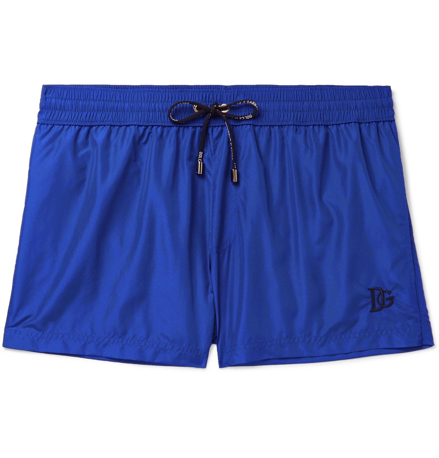 Photo: Dolce & Gabbana - Short-Length Swim Shorts - Blue