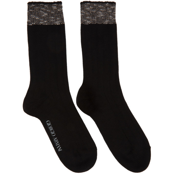 Photo: Giorgio Armani Black Trim Basic Socks