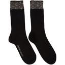 Giorgio Armani Black Trim Basic Socks