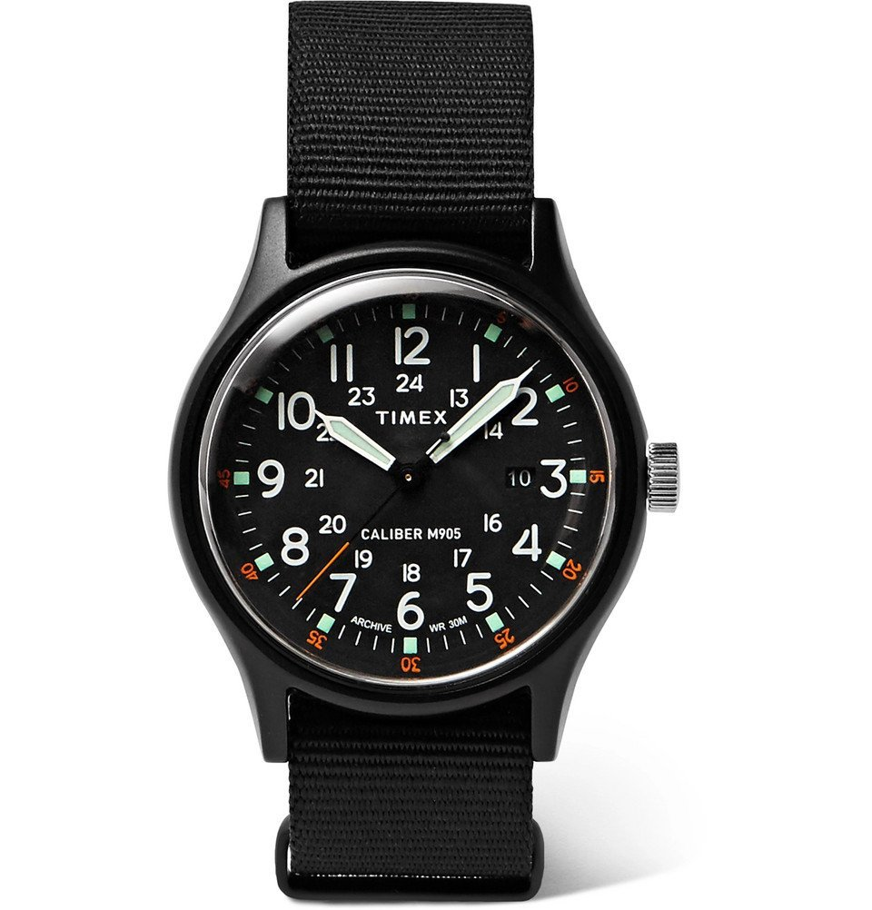 Photo: Timex - MK1 Camper Aluminium and Grosgrain Watch - Black