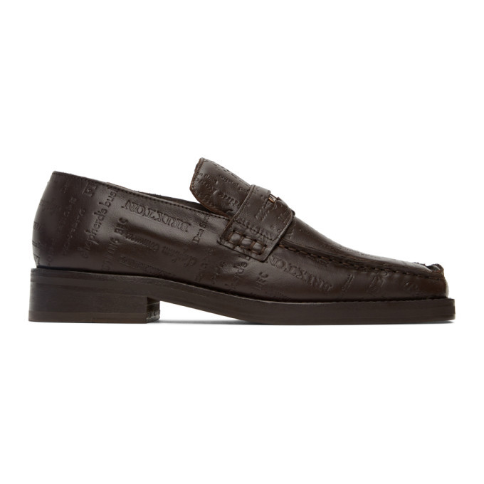 Photo: Martine Rose Brown Embossed Roxy Loafers