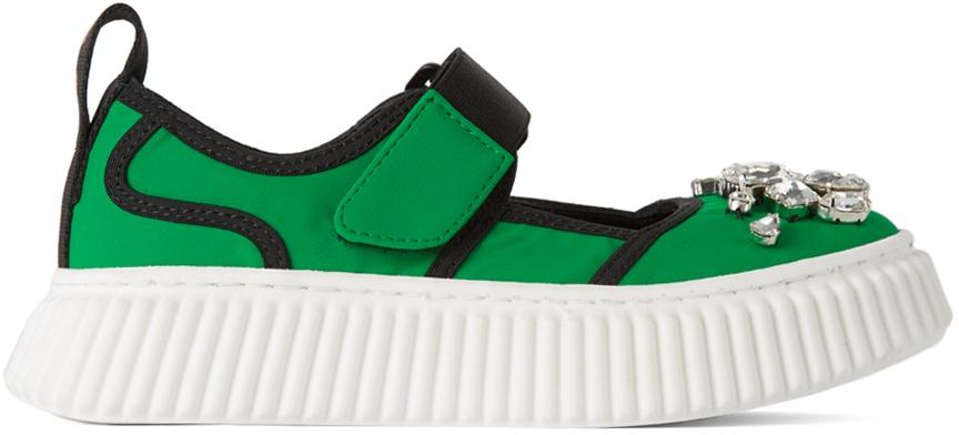 Photo: Marni Kids Green Jewel Sneakers