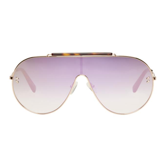 Photo: Stella McCartney Rose Gold Oversized Shield Aviator Sunglasses