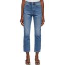 Ksubi Blue Stonewashed Chlo Wasted Jeans