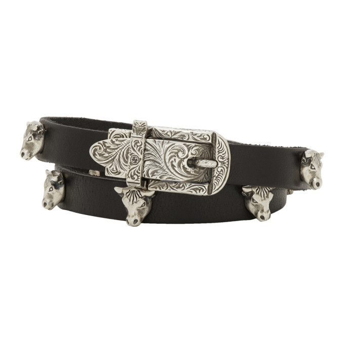 Photo: Gucci Black and Silver Buckle Bracelet