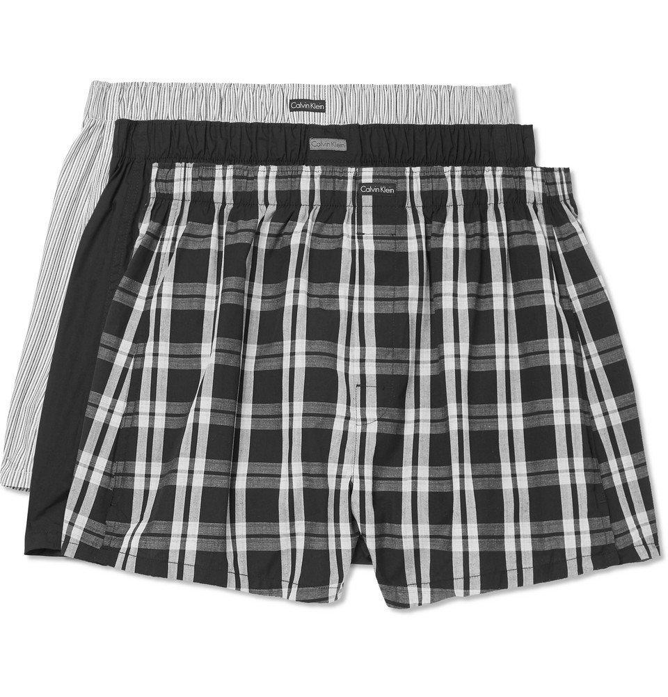 Photo: Calvin Klein Underwear - Three-Pack Cotton-Blend Boxer Shorts - Gray