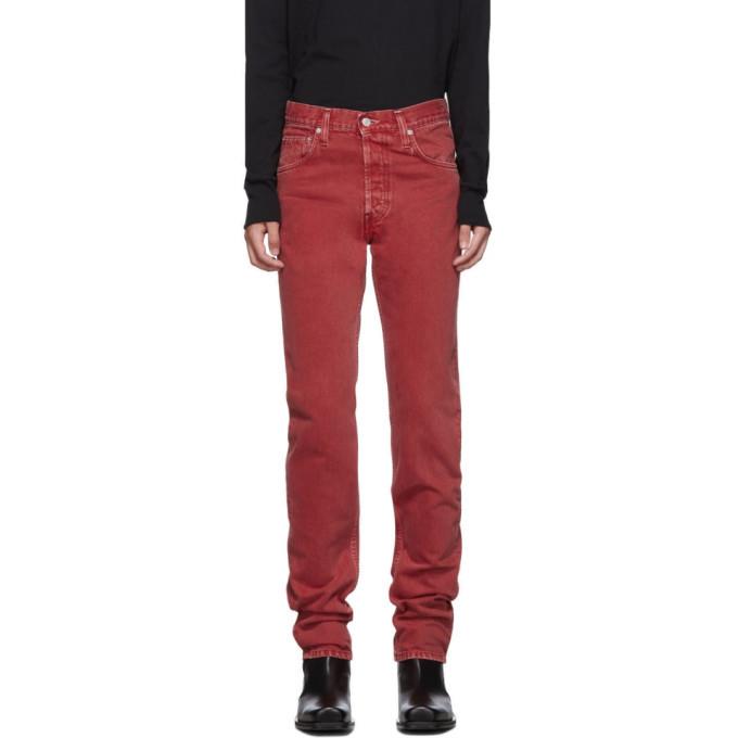 Photo: Helmut Lang Red Masc Hi Straight Jeans