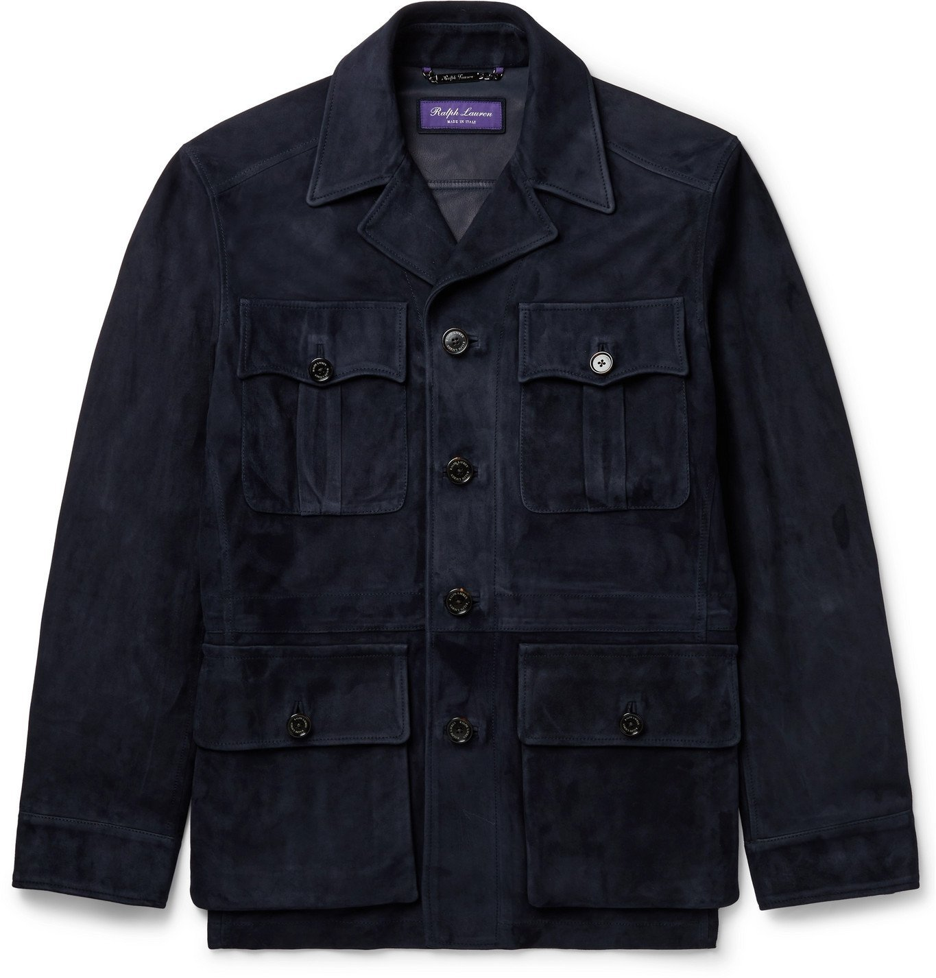Photo: Ralph Lauren Purple Label - Suede Field Jacket - Blue