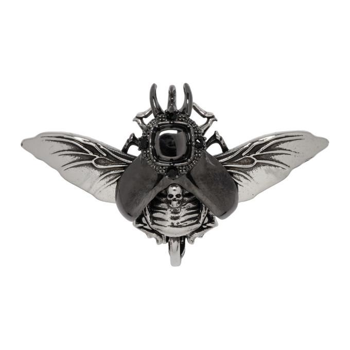 Photo: Alexander McQueen Silver Flying Beetle Earring