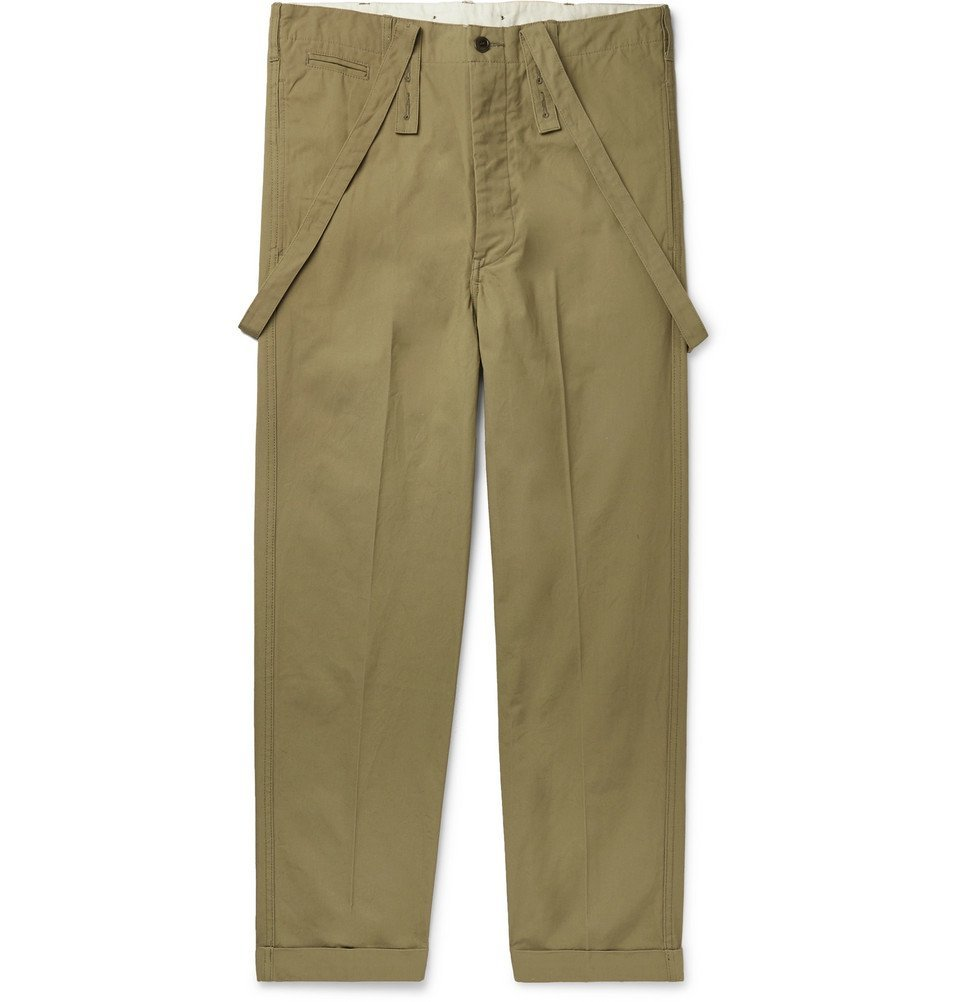 Photo: visvim - Cotton-Canvas Trousers - Army green
