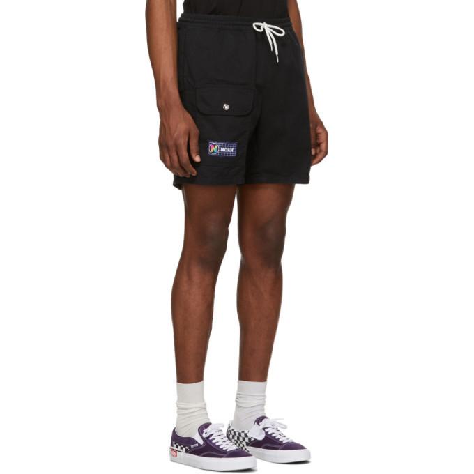 Noah NYC Black Utility Shorts