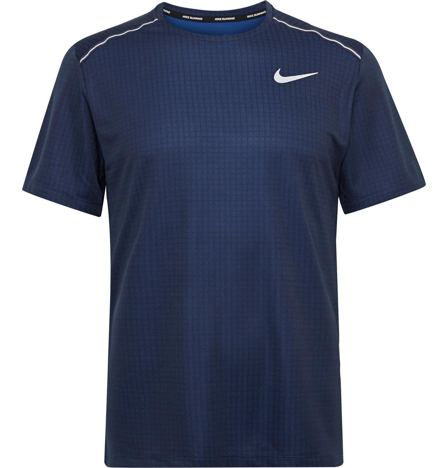 Nike Running - Miler Dri-FIT Ripstop T-Shirt - Blue