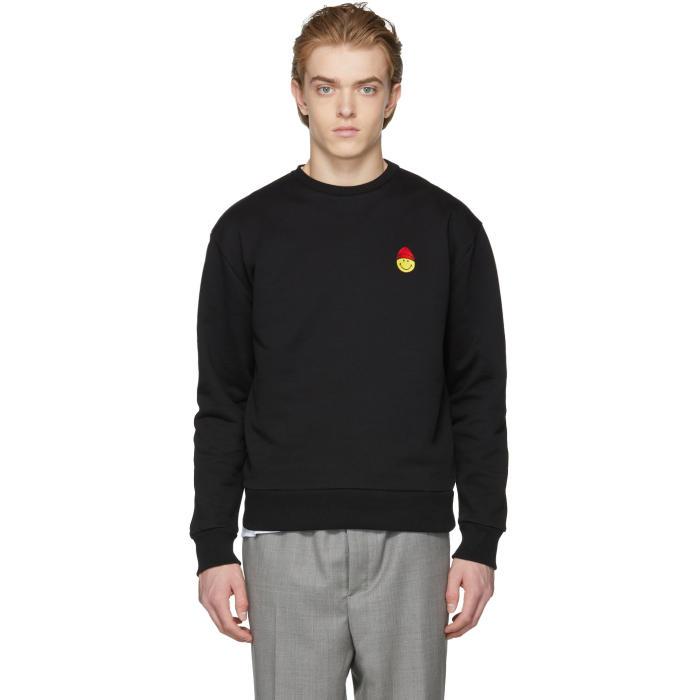 Photo: AMI Alexandre Mattiussi Black Smiley Edition Sweatshirt