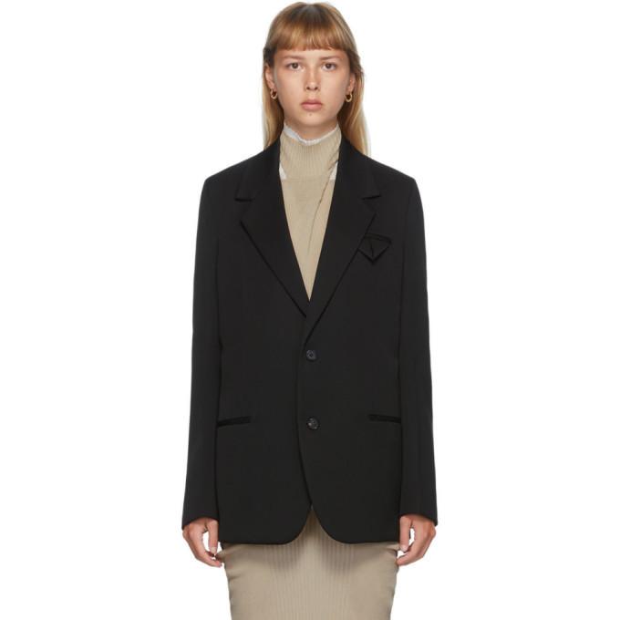 Photo: Bottega Veneta Black Wool Oversized Blazer