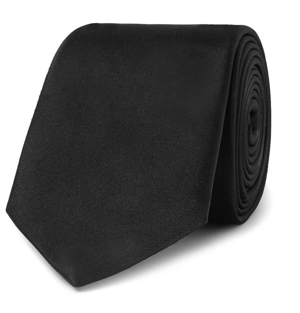 Photo: Giorgio Armani - 7cm Silk Tie - Black