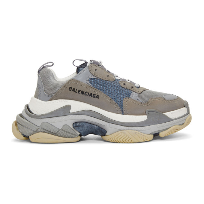 Photo: Balenciaga Grey Triple S Sneakers