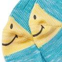 KAPITAL - Ivy Smilie Striped Cotton and Hemp-Blend Socks - Blue