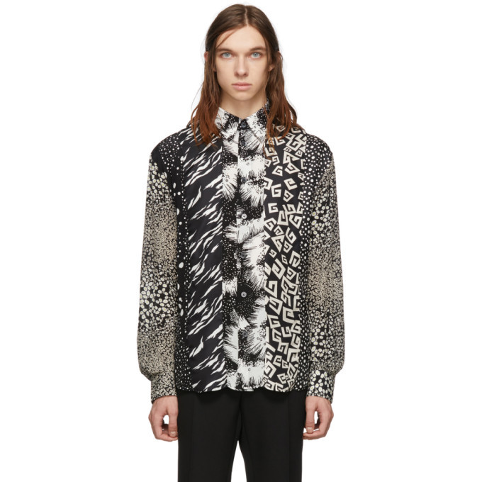 Photo: Givenchy Black Patchwork Effect Shirt