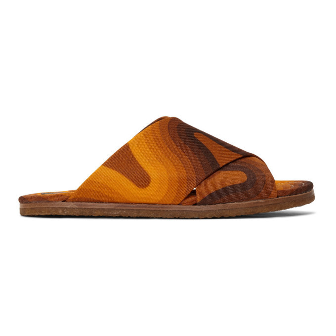 Photo: Dries Van Noten Orange Verner Panton Edition Wave Slides