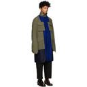 Sacai Reversible Blue and Green Solid Shrivel Coat