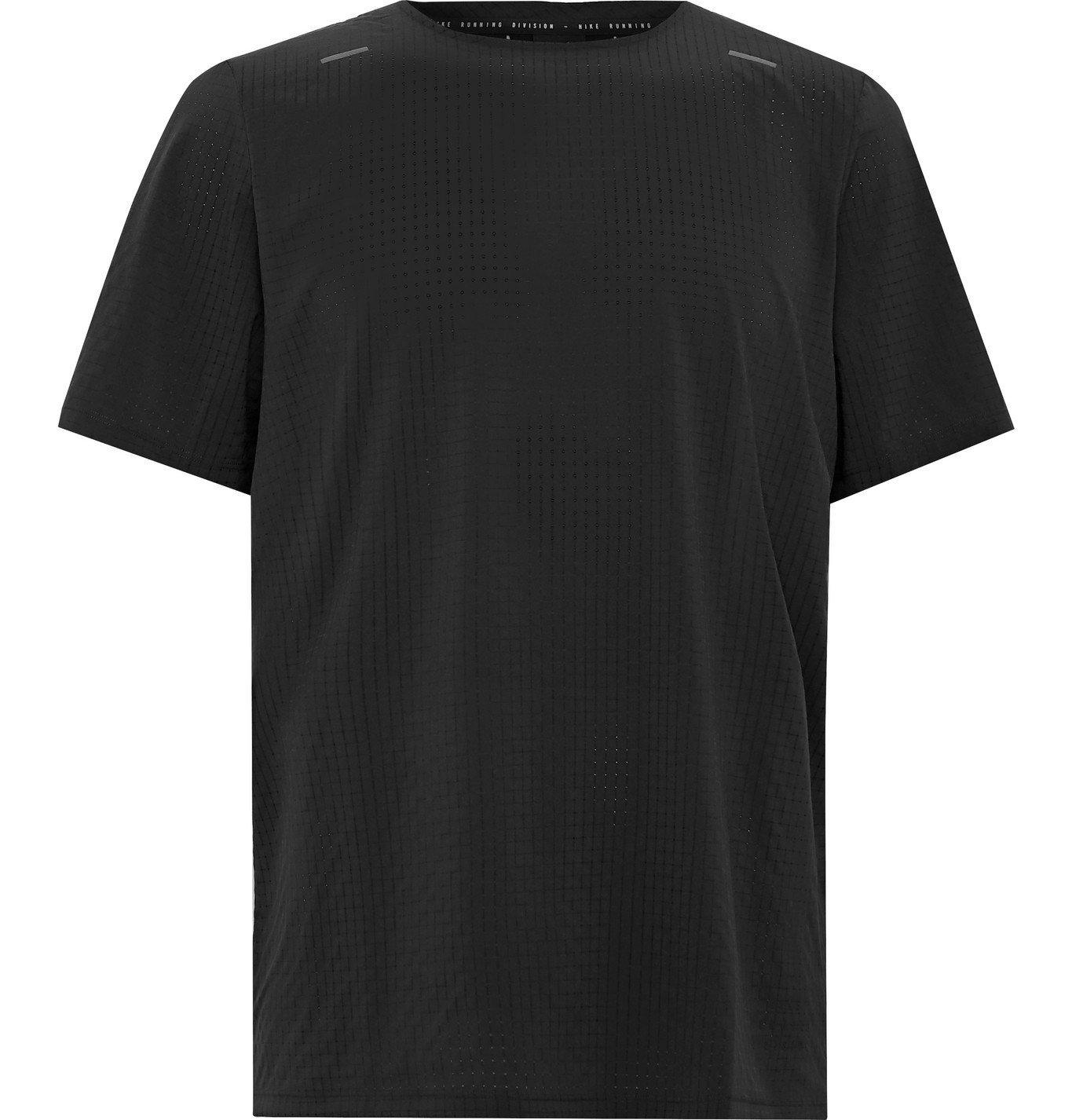 Nike Running - Division Adapt Perforated Dri-FIT T-Shirt - Black