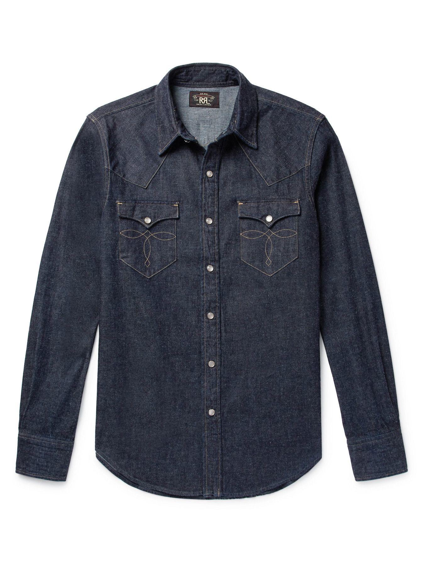 Photo: RRL - Slim-Fit Denim Western Shirt - Blue