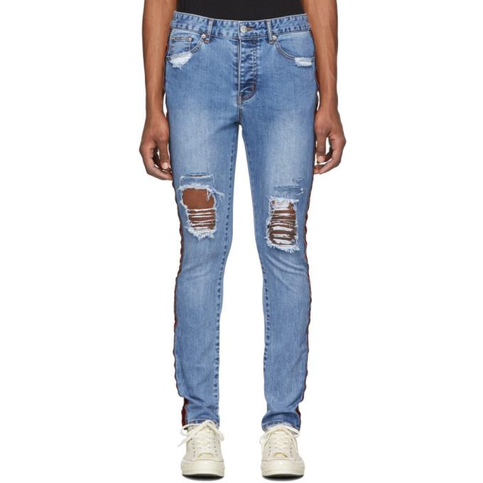Photo: Stolen Girlfriends Club Blue Trashed Tuxedo Jeans