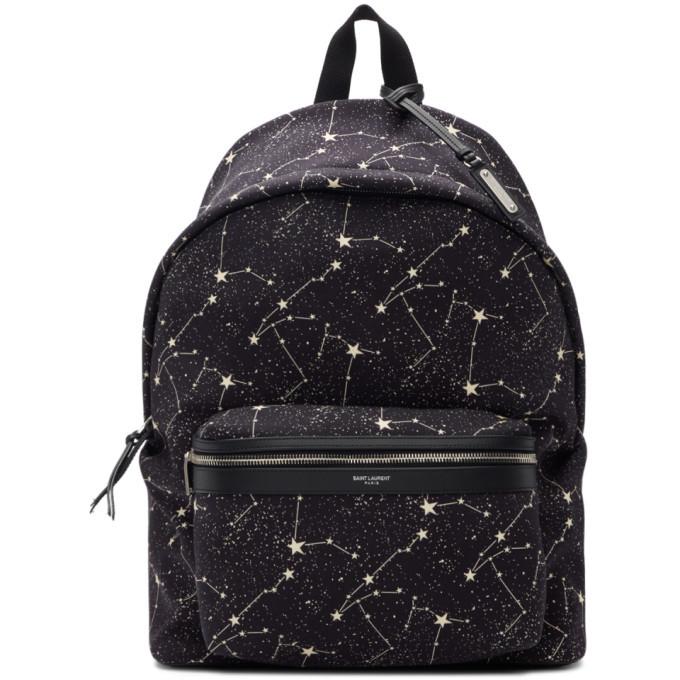Photo: Saint Laurent Black Constellation City Backpack
