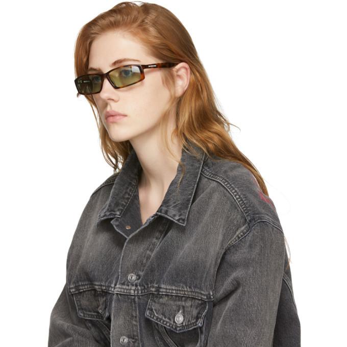 Balenciaga Tortoiseshell Neo Sunglasses