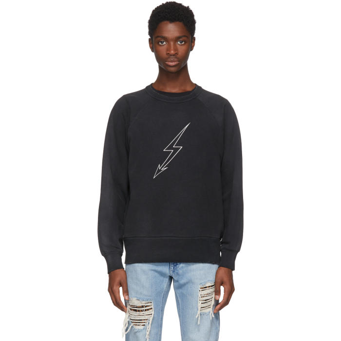 Photo: Givenchy Black Lightning World Tour Vintage Sweatshirt