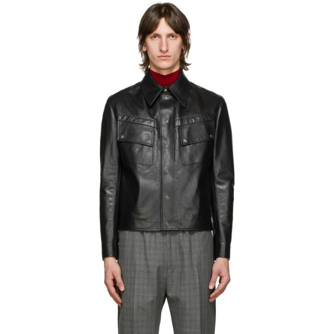 Photo: Givenchy Black Leather Vintage Fit Jacket