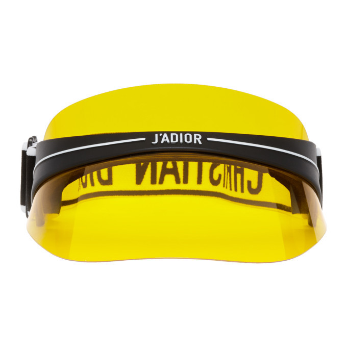 Photo: Dior Homme Black and Yellow DiorClub1 Visor