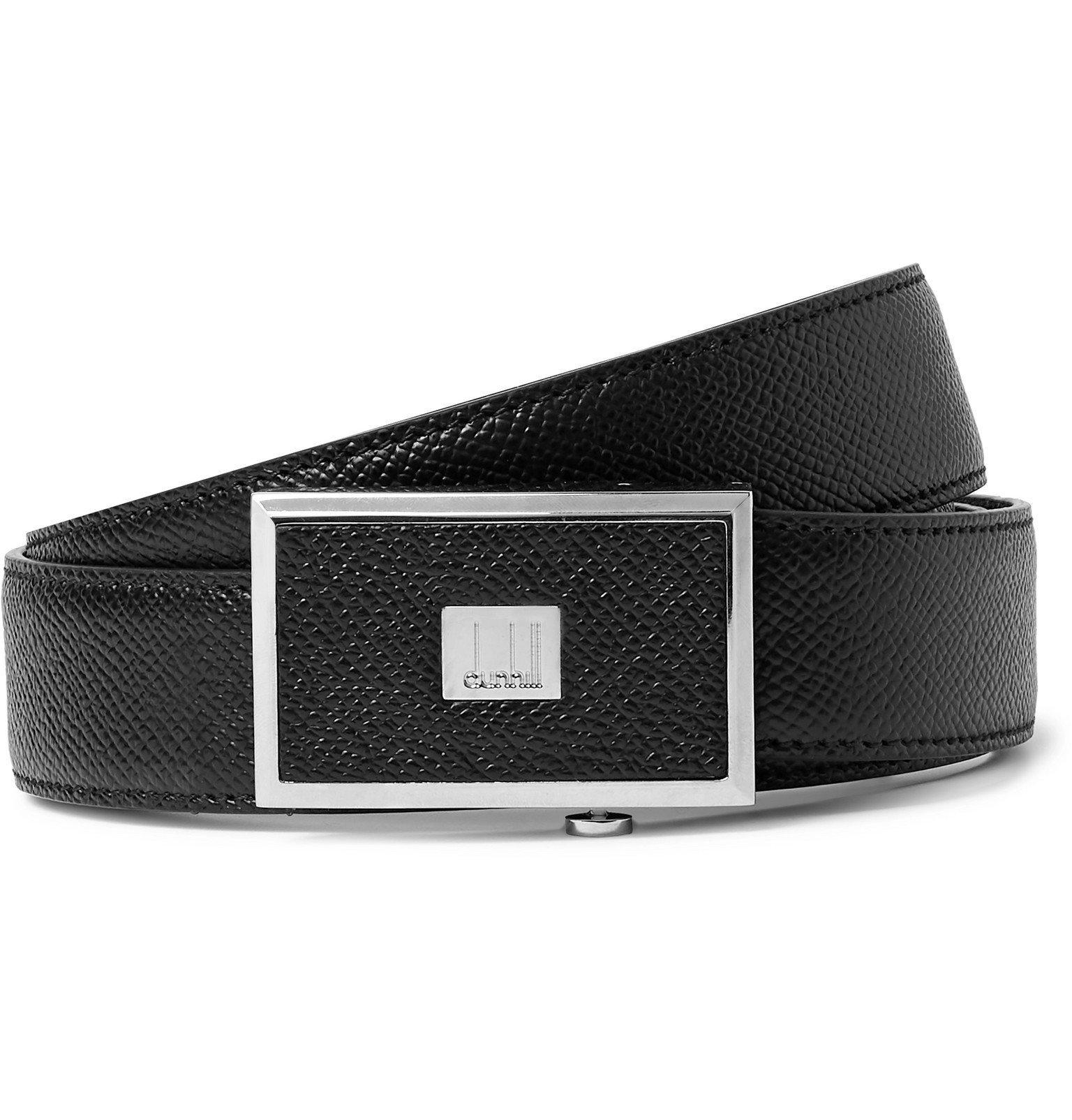 Dunhill - 3cm Black Full-Grain Leather Belt - Black