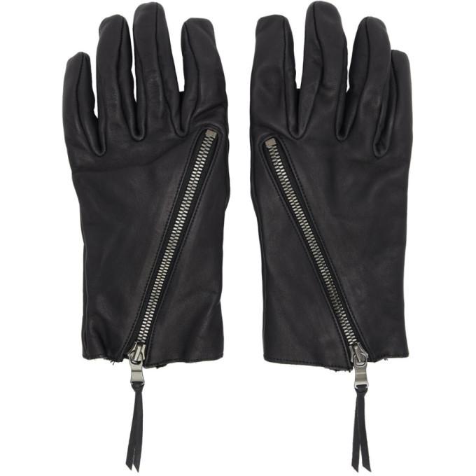 Photo: The Viridi-anne Black Leather Zip-Up Gloves