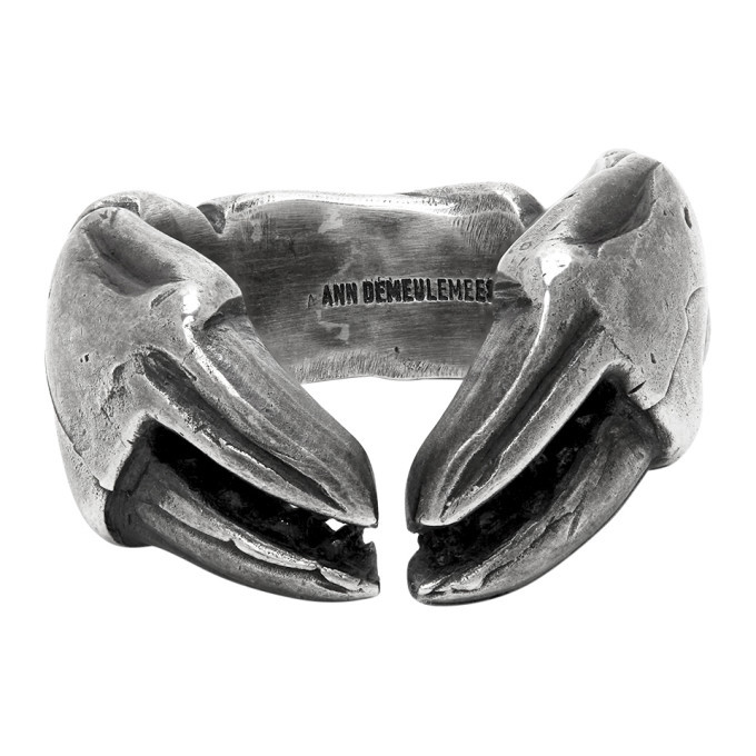 Photo: Ann Demeulemeester Silver Crab Claw Ring