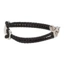 Giorgio Armani Black and Silver Braided Bracelet
