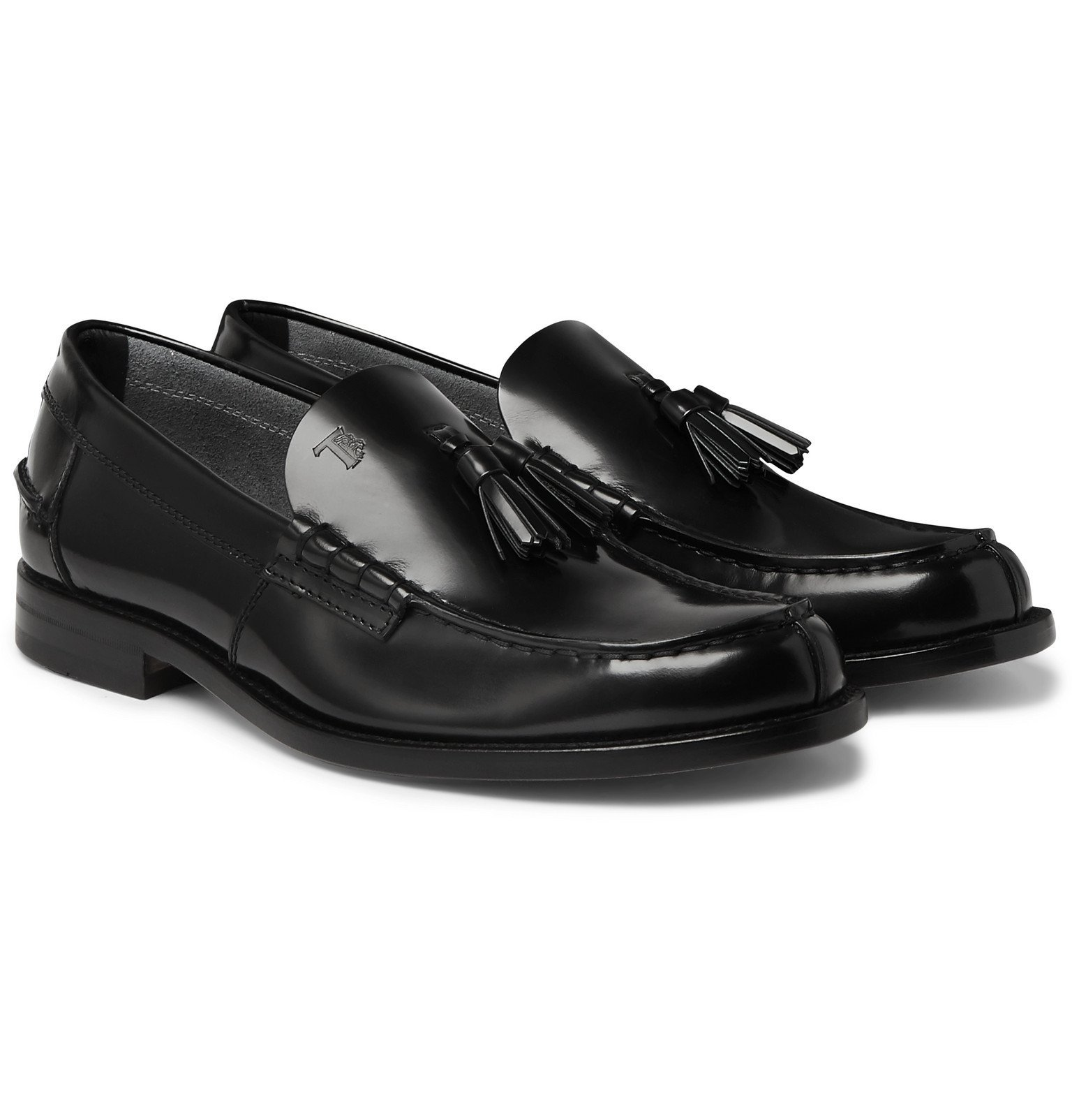 Photo: Tod's - Polished-Leather Tasselled Loafers - Black