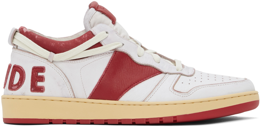 Photo: Rhude White & Red Rhecess Low Sneakers