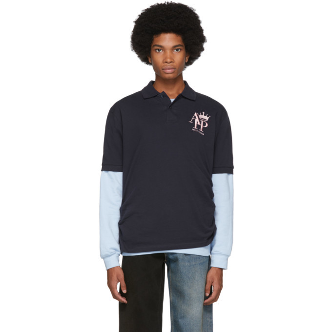 Photo: Afterhomework Navy Sweater Polo