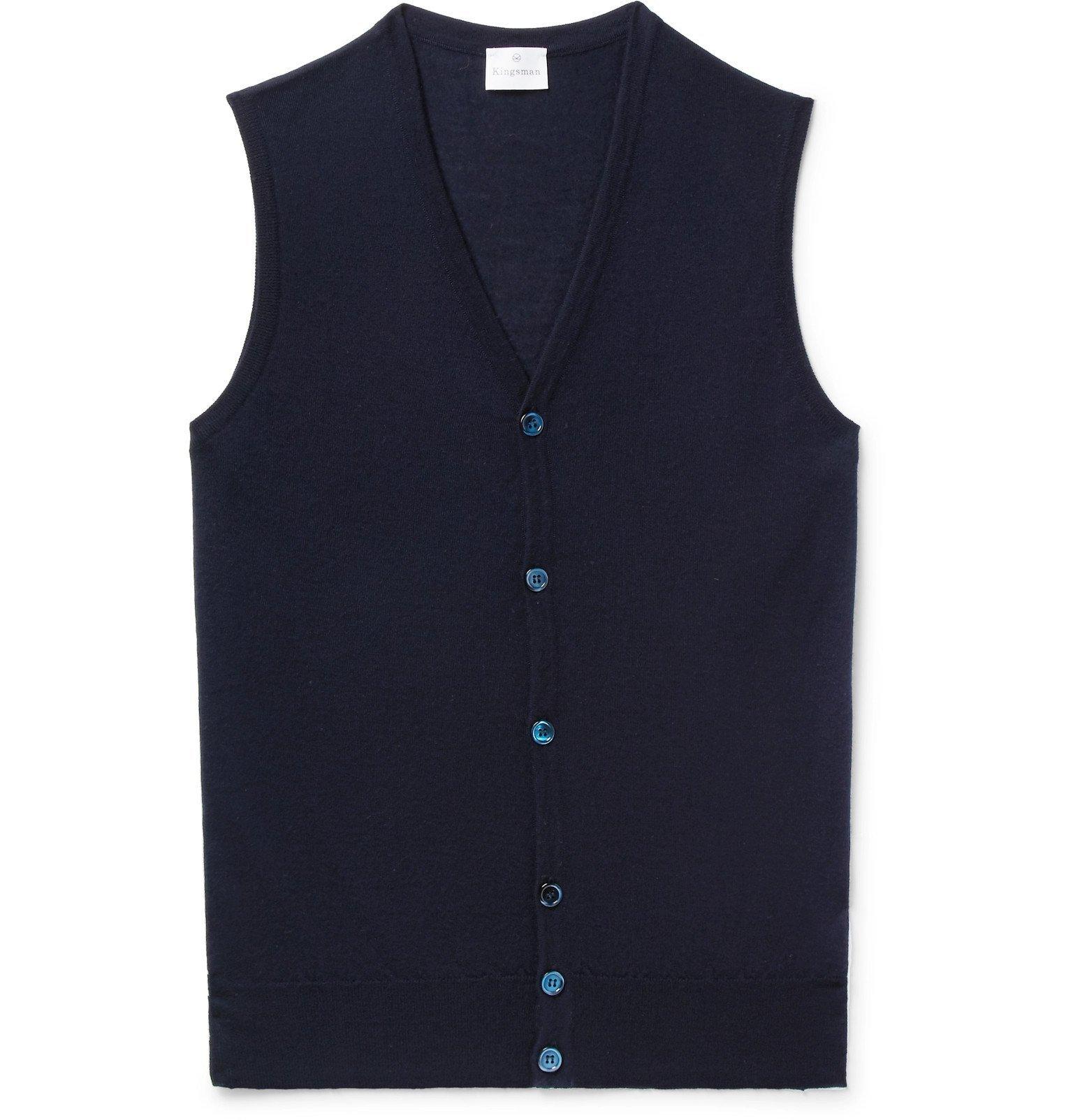 Photo: Kingsman - Cashmere Sweater Vest - Blue