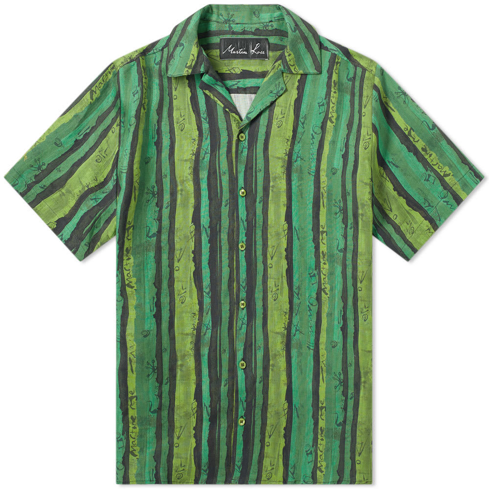 Photo: Martine Rose Stripe Vacation Shirt Green