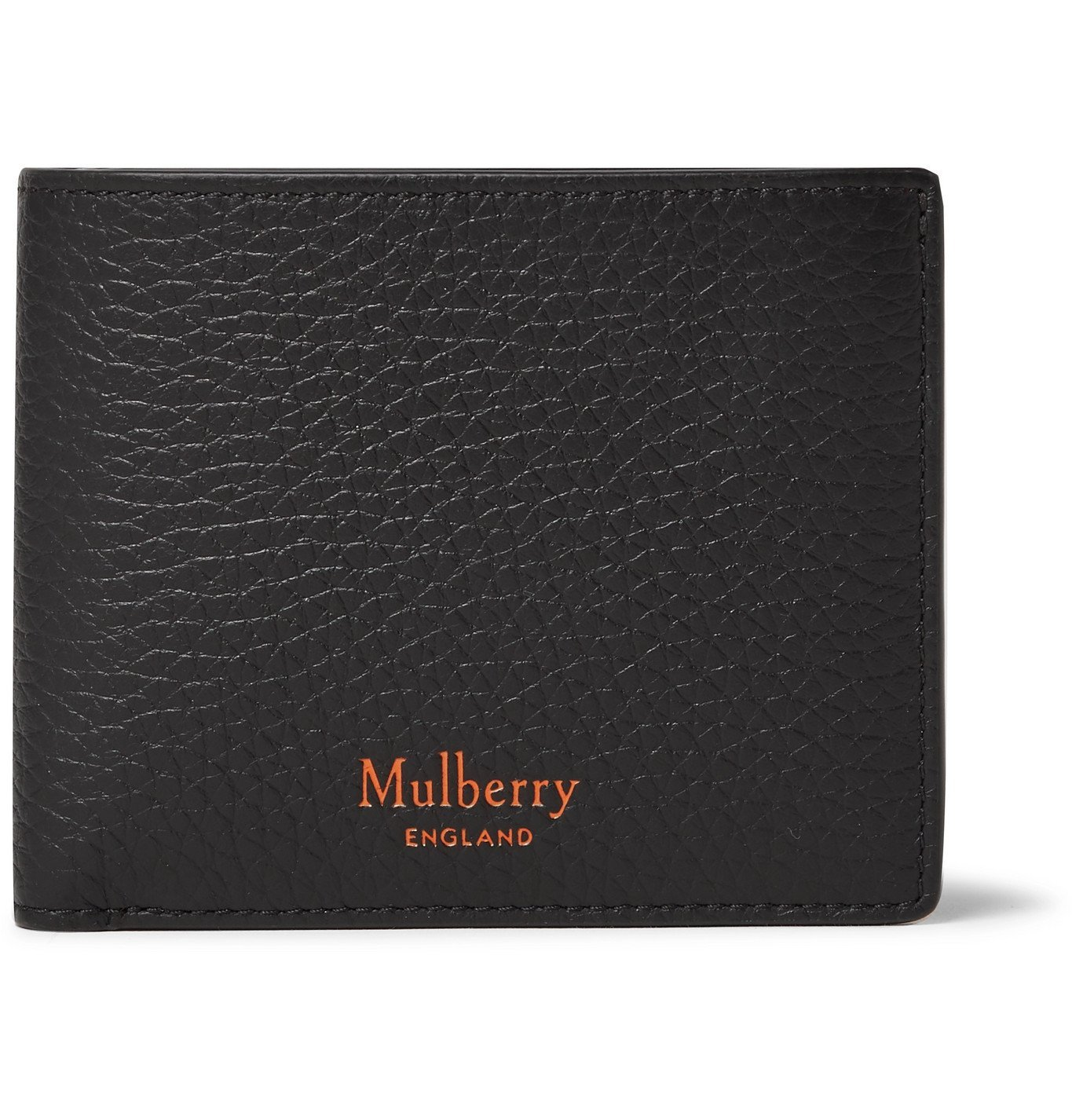 Photo: Mulberry - Full-Grain Leather Billfold Wallet - Black