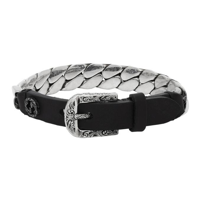 Photo: Gucci Black and Silver Small Gucci Garden Bracelet