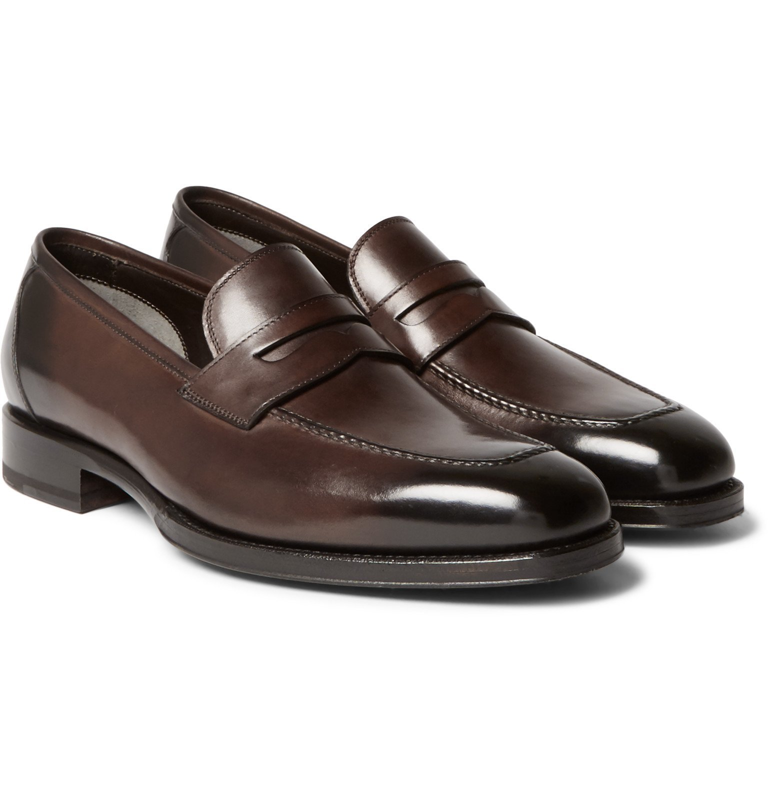Photo: TOM FORD - Wessex Leather Penny Loafers - Brown