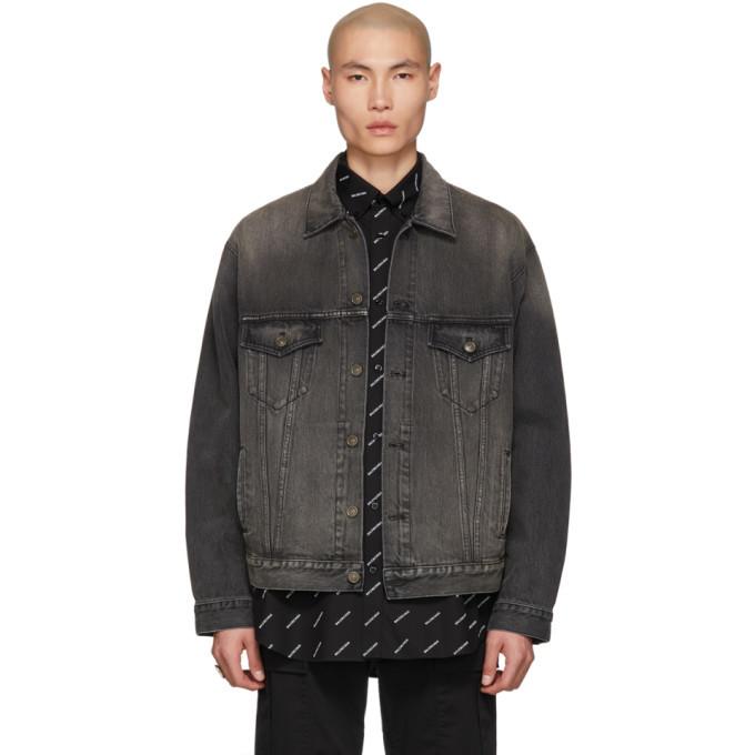 Photo: Balenciaga Black Denim You Are The World Jacket