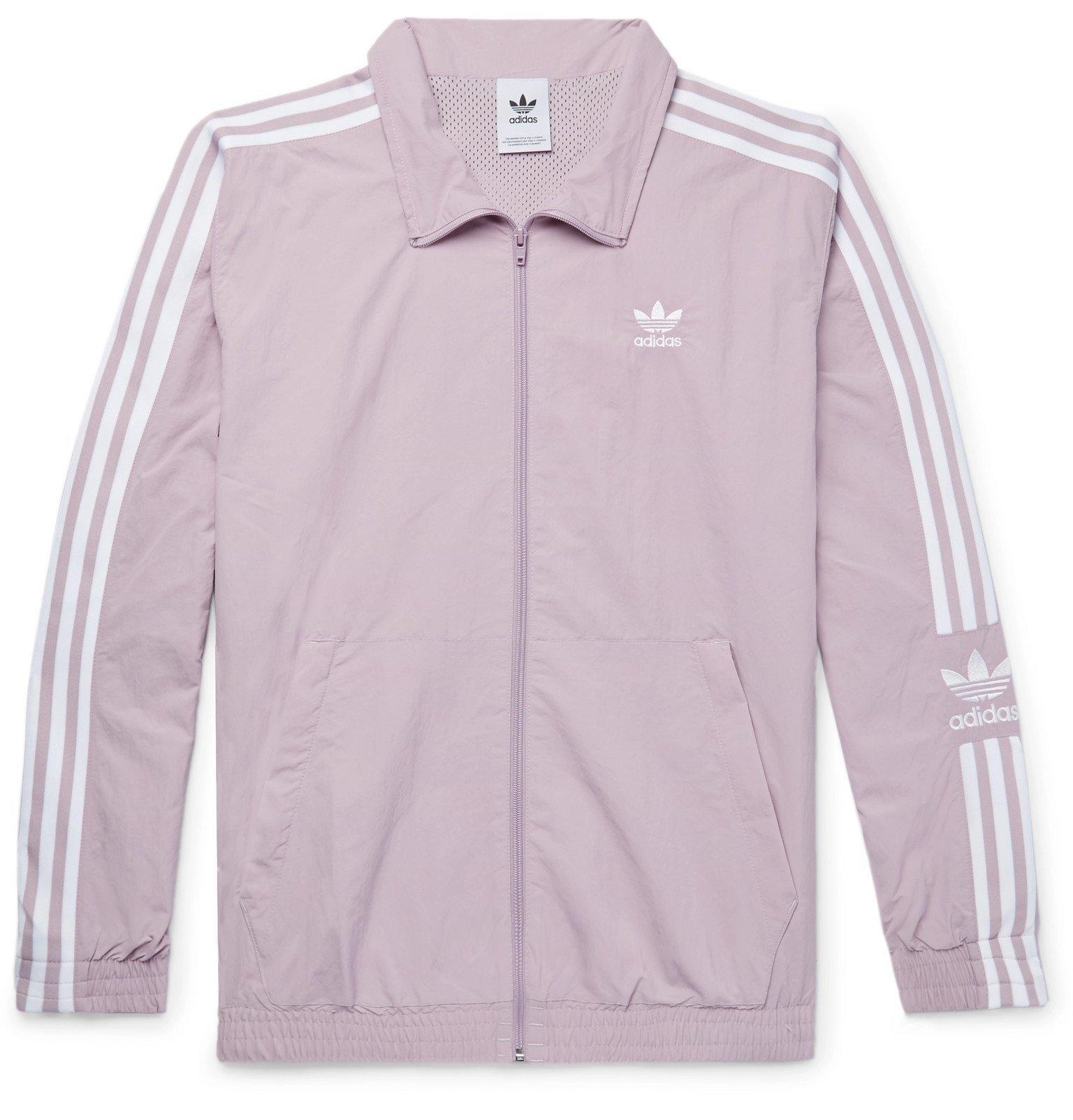 adidas Originals - Logo-Embroidered Nylon Track Jacket - Purple