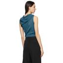 Nina Ricci Blue Off-The-Shoulder Tank Top